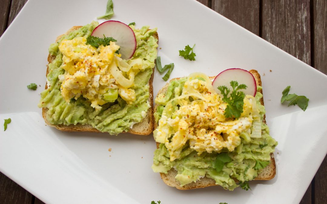 Scrambled Eggs With Avocado & Spinach